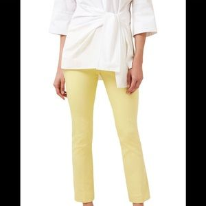 HOBBS ANNIE TROUSERS. yellow ankle length. NWT